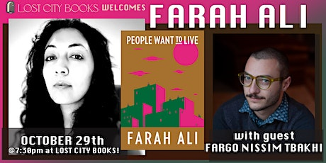 People Want to Live by Farah Ali with guest Fargo Tbakhi tickets