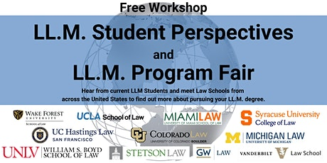 LL.M. Student Perspectives and LL.M. Program Fair tickets