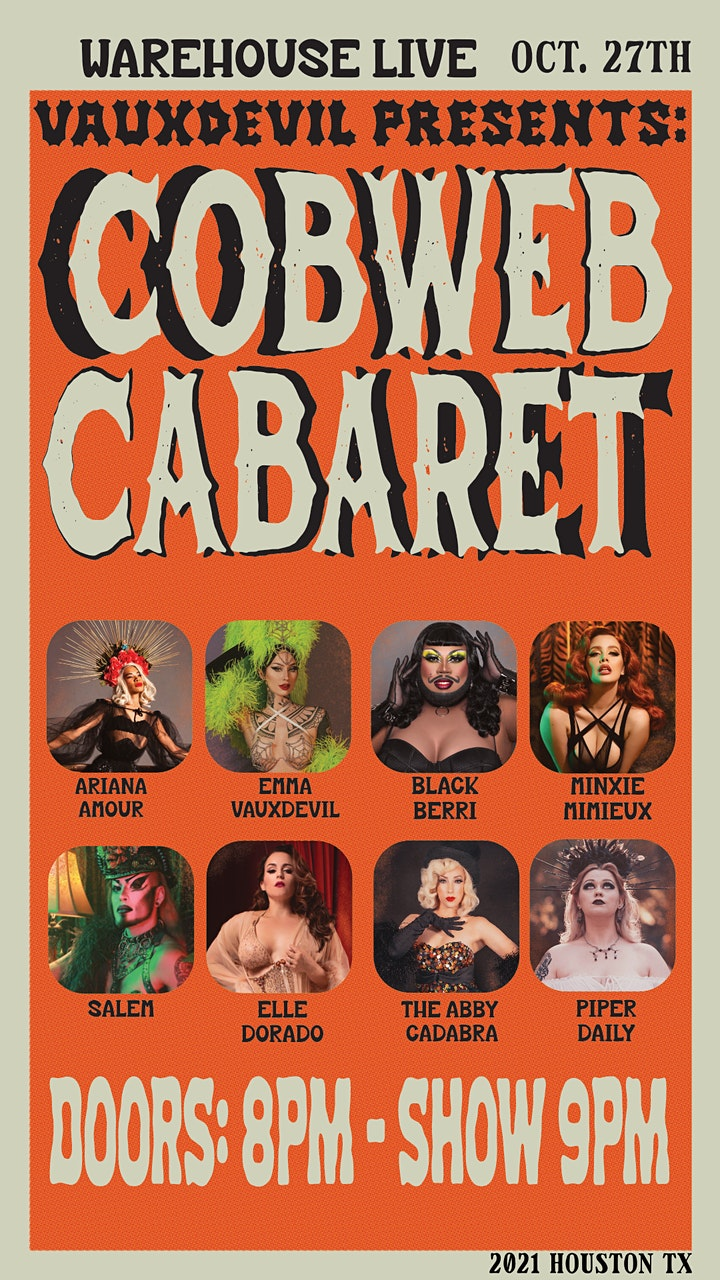 COBWEB CABARET- THE BALLROOM AT WAREHOUSE LIVE image