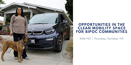 Opportunities in the Clean Mobility Space for BIPOC Communities tickets