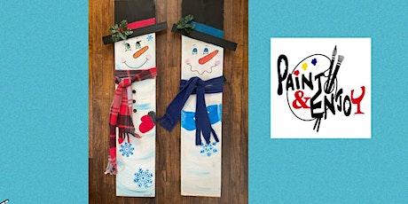 "Paint and Enjoy at Wyndridge Farm ""3 foot Snowman on wood "" tickets"
