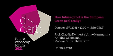 How future-proof is the European Green Deal really? tickets
