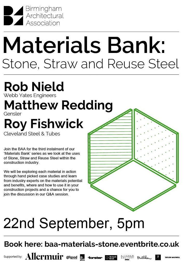 Materials Bank: Stone, Straw and Reuse Steel image