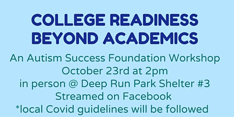 College Readiness Beyond Academics for Autistic Students tickets