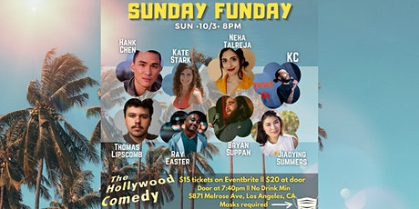 10/3 8PM SUNDAY FUNDAY SHOW AT The Hollywood Comedy tickets
