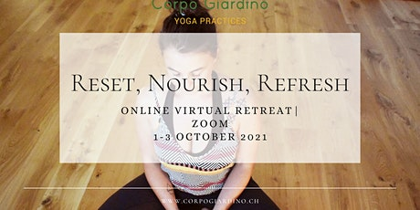 Online Yoga Retreat for exhausted women_Reset, Nourish, Refresh (2.5 days) tickets