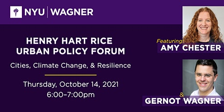 Join Us for Henry Hart Rice Urban Policy Forum: Cities, Climate Change, and Resilience tickets
