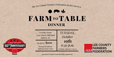 Lee County Farm to Table Dinner tickets