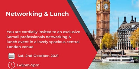 Somali Professionals Networking & Lunch tickets