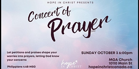 Hope In Christ: Concert of Prayer tickets