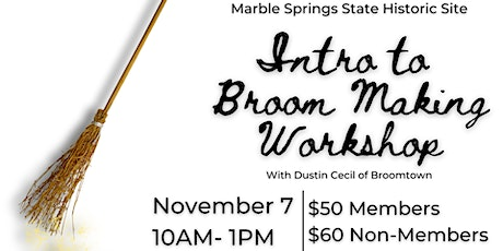 Intro to Broom Making Workshop tickets