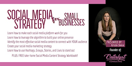 Social Media Strategy for Small Businesses -  Virtual tickets