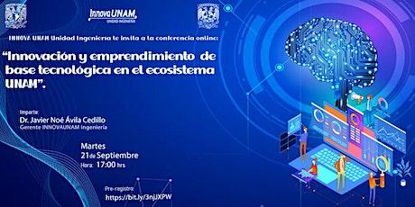 Innovación y emprendimiento de base tecnológica en el ecosistema UNAM. entradas