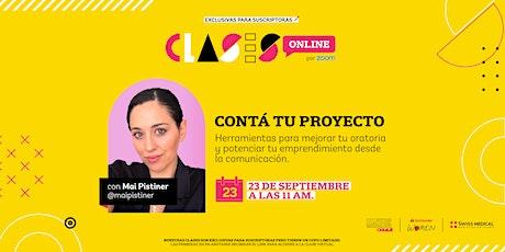 Clase Online de OHLALÁ! Makers: Contá tu proyecto con Mai Pistiner entradas
