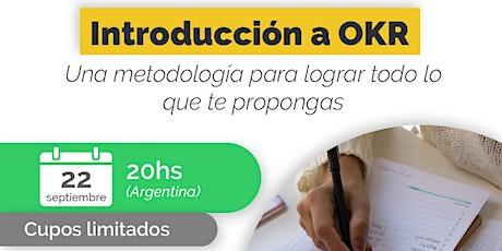 Introducción a OKR - Webinar gratuito Up Company tickets