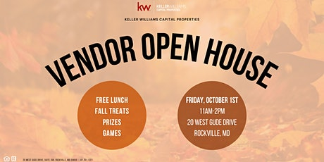 Vendor Open House at Keller Williams Capital Properties Rockville tickets