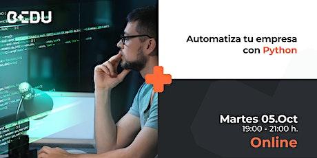 Automatiza tu empresa con Python/Sesiones en vivo. boletos