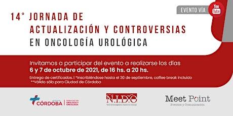 """""""14ª Jornada de actualización y controversias en oncología urológica"""" 2021 entradas"""