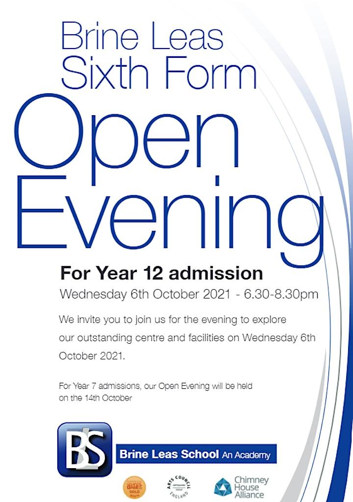 Brine Leas Sixth Form Open Evening image
