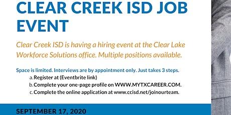 Clear Creek ISD Job Event tickets