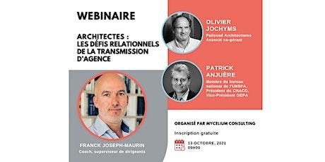 Architectes : Les défis relationnels de la transmission d'agence billets