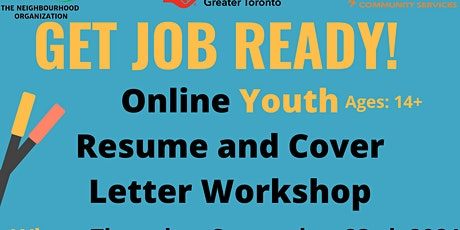TNO Youth - Online Resume and Cover Letter Workshop tickets