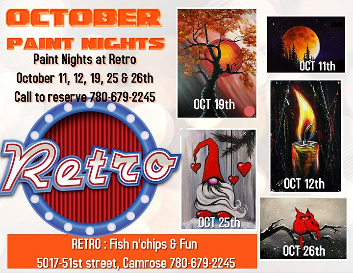 Paint night Oct 12th image