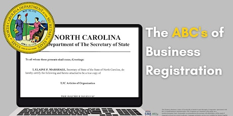 The ABC's of Business Registration tickets