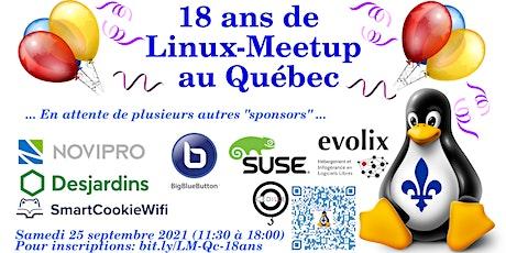 18 ans de Linux-Meetup au Québec! tickets