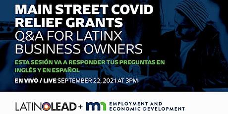 Mainstreet Covid Relief Grants for Minnesota Small Businesses entradas