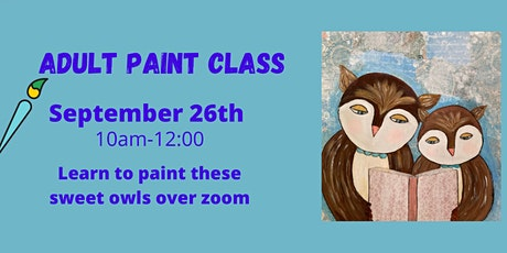 Adult Paint Session: Learn to Paint Owls tickets