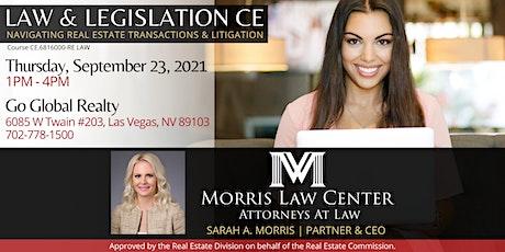 Law and Legislation CE:  Navigating Real Estate Transactions & Litigation tickets