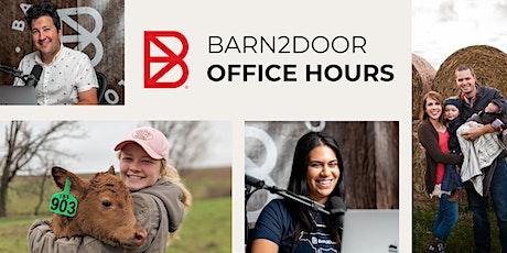 Barn2Door Office Hours tickets