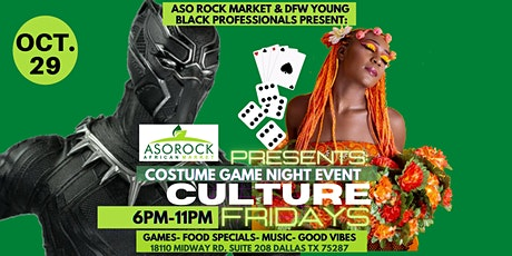 """Aso Rock Market presents """"Culture Fridays Costume Game Night"""" tickets"""