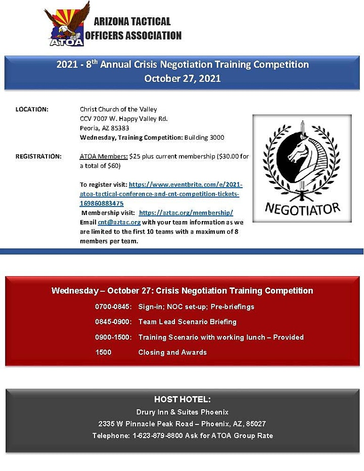 2021 ATOA Tactical Conference and CNT Competition image