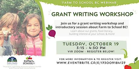 Farm to School BC Grant Writing Workshop tickets