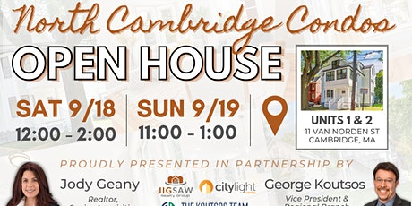 OPEN HOUSE! 11 Van Norden St Cambridge tickets