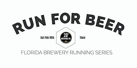 Beer Run - 26º Brewing Co  2021-2022  FL Brewery Running Series tickets
