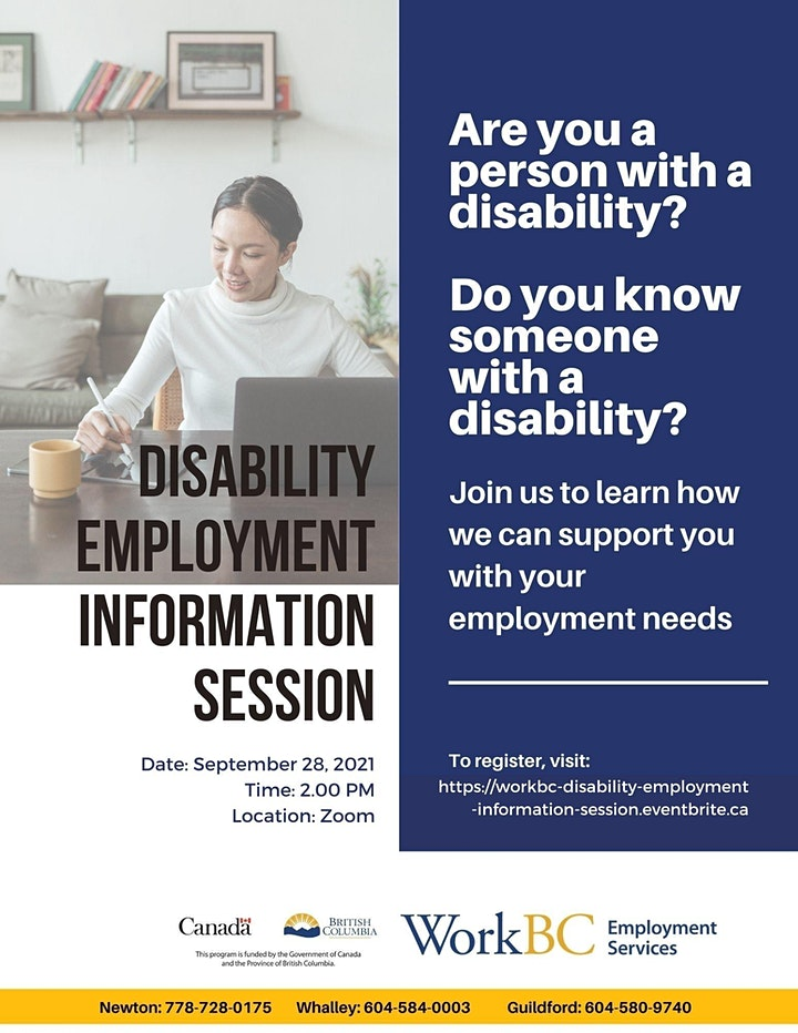 WorkBC Disability Employment Information Session image