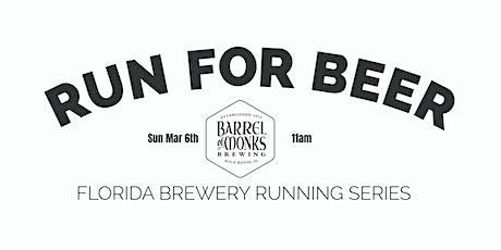 Beer Run - Barrel of Monks Brewing   2021-2022  FL Brewery Running Series tickets