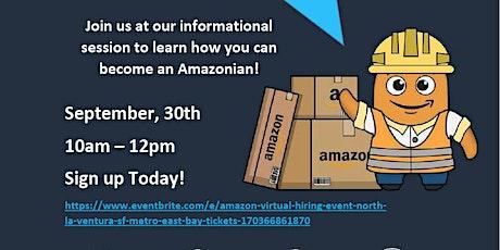Amazon Virtual Hiring Event (North L.A., Ventura , S.F. Bay Area, East Bay) tickets