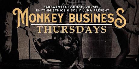 Monkey Business Thursdays at Barbarossa Lounge.  DJs, Cocktails & Dancing tickets
