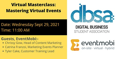 Virtual Masterclass: Mastering Virtual Events tickets