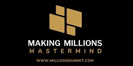 Making Millions Mastermind tickets