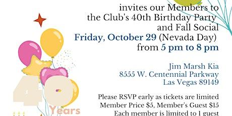 Nevada Republican Club 40th Birthday and Fall Social tickets