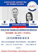 """MASTER CLASS - LEISHMANIASIS - CICLO CHARLAS DERMATOLÓGICAS A.A.D""""- entradas"""