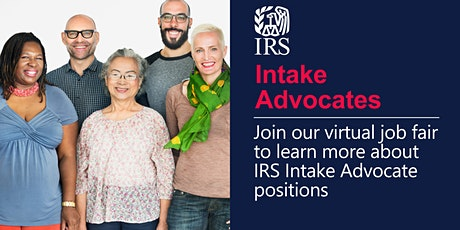 IRS Virtual Job Fair about Intake Advocate positions tickets