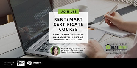 BC RentSmart Certificate Virtual Course: October 12-21, 2021 tickets