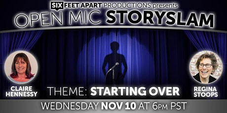 """Open Mic StorySlam """"Starting Over"""" tickets"""