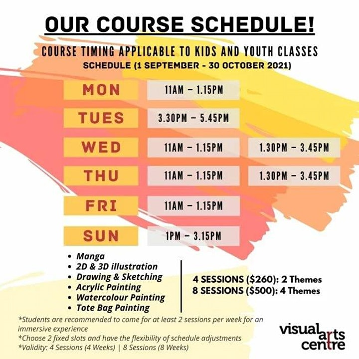 Holiday Art Immersion Course for Youths (4 Sessions) image